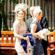 La sportive Amy Williams arrive au mariage de Zara Phillips et de Mike Tindall, à Edimbourg, le 30 juillet 2011.