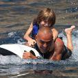 Christian Audigier et son fils en vacances à Ibiza le 30 juillet 2011
