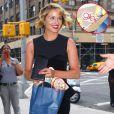 Dianna Agron, resplendissante, à son arrivée pour Le Late Show de David Letterman à New York le 1 août 2011.