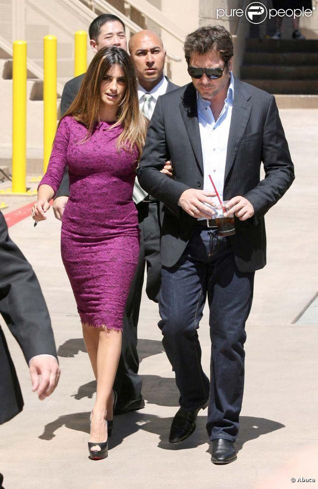 Penélope Cruz et Javier Berdem, à Los Angeles, le 1er avril 2011.