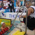Lors des Mondiaux de Shanghai du 24 au 31 juillet 2011, Federica Pellegrini est parvenue à conserver ses titres mondiaux sur 200 et 400 m nage libre, sous la houlette de Philippe Lucas (photo : lors des championnats de France en mars 2011 à Strasbourg). Pourtant, leur collaboration n'ira pas plus loin.