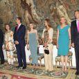 Le roi Juan Carlos, la reine Sofia, Letizia, Felipe, Elena, Cristina et Inaki, à Palma de Majorque. 7 Août 2011
