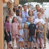 La famille royale d'Espagne réunie pour une pluie de baisers