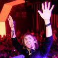 David Guetta a mis le feu lors de la soirée F*** Me I'm Famous au Gotha Club à Cannes, le 7 août 2011