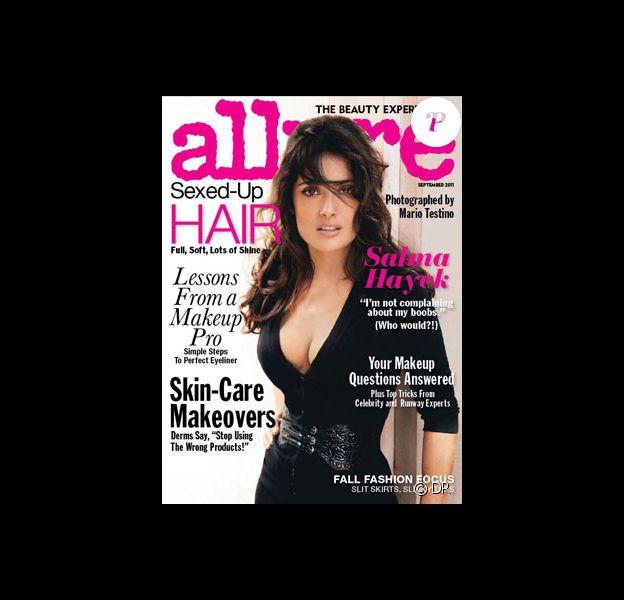 Salma Hayek sur la couverture du magazine Allure pour le mois de septembre