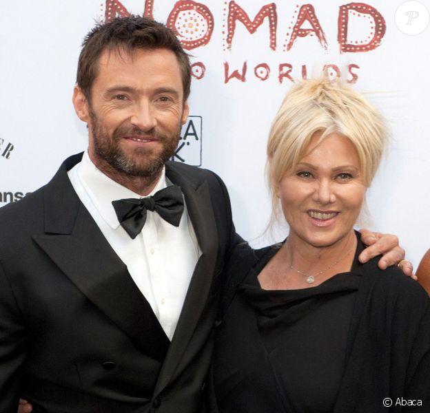Hugh Jackman et son épouse Deborra-Lee Furness à Berlin pour l'inauguration de l'exposition Nomad two Worlds le 19 août 2011