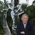 Le sculpteur Sacha Sosno à l'occasion du 100e anniversaire du Golf Club de Monte-Carlo, le 27 août 2011