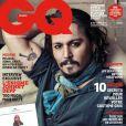 Johnny Depp en couverture du magazine  GQ France  pour son numéro d'avril 2011.
