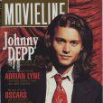 Avril 1993 : l'acteur Johnny Depp est loin de faire ses 30 ans, en couverture de MovieLine.
