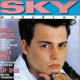 L'acteur Johnny Depp en couv' de  Sky Magazine UK . Septembre 1991.