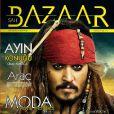 Johnny Depp, ou plutôt Jack Sparrow, en couverture de  Sah Bazaar . Mai 2011.