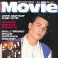 Johnny Depp, en couverture du magazine  Movie . Automne 1990.