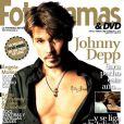 L'acteur Johnny Depp exhibe son tatouage en l'honneur de sa fille Lily-Rose pour le magazine espagnol Fotogramas. Janvier 2011.