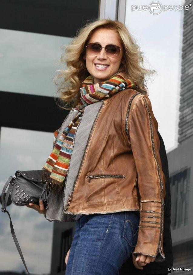 Lara Fabian lors de l'enregistrement de l'émission spéciale Les Grosses Têtes, en Belgique, le lundi 29 août 2011.