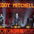 Eddy Mitchell sur la scène des Victoires de la musique, à Paris, le 1er mars 2011.