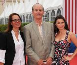 Bill Murray, Liza Johnson et Linda Cardellini, lors de la présentation du film Return, le 3 septembre 2011.