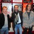 Bruno Solo, Dominique Pinon et Pierre Berriau lors de la conférence de presse des théâtres privés, le jeudi 8 septembre 2011.