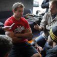 Vincent Clerc détendu à quelques heures du coup d'envoi de la Coupe du Monde de rugby en Nouvelle Zélande qui se déroulera du 9 septembre au 23 octobre