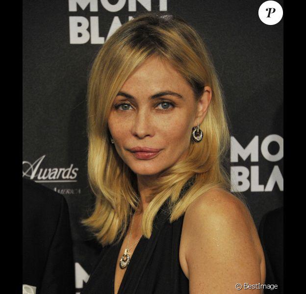 """Emmanuelle Béart lors de la soirée de lancement de la nouvelle collection  Montblanc """"Grace de Monaco"""" à l'opéra de Monaco, le 8 septembre 2011"""