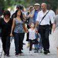 Salma Hayek et sa fille Valentina en promenade à New York le 9 septembre 2011
