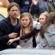 Brad Pitt sur le tournage de World War Z