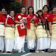 Les supportes des Tonga se sont déplacés en masse pour acclamer les leurs, revêtant costumes traditionnels... et moins traditionnels !