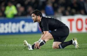 Coupe du monde de rugby : les All Blacks Piri Weepu et Jerome Kaino papas