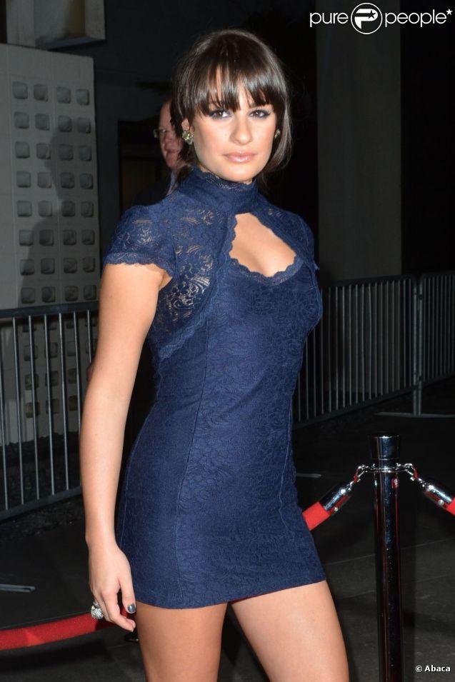 Lea Michele lors de l'avant-première de American Horror Story présentée par Ryan Murphy à Los Angeles, le 3 octobre 2011