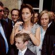 Cécilia Attias et Louis Sarkozy en juillet 2007, à l'Elysée.