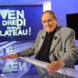 Robert Hossein lors de l'enregistrement de l'émission Vendredi sur un plateau diffusée vendredi 7 octobre sur France 3 et consacrée à Robert Hossein.