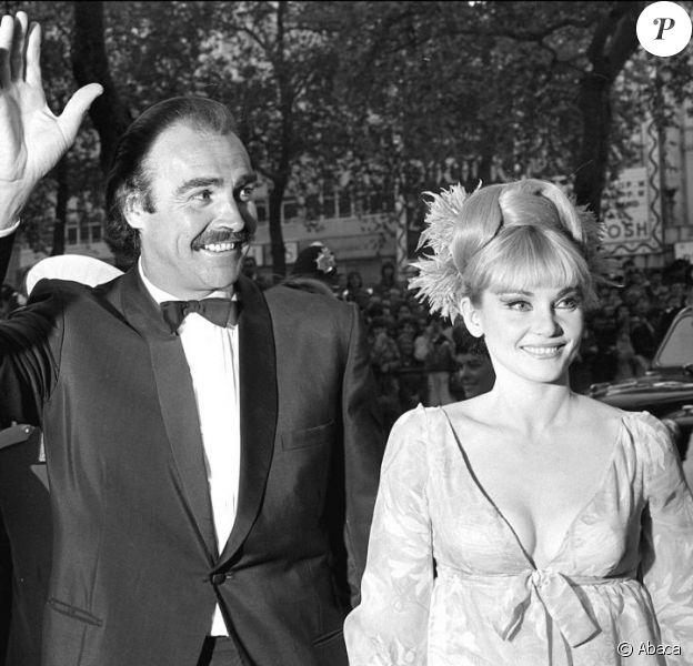 Sean Connery et Diane Cilento en 1967