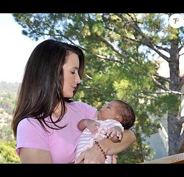 Kristen Davis et sa fille adoptive Gemma