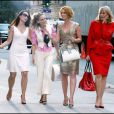 Kristen Davis, Sarah Jessica Parker, Cyntia Nixon et Kim Cattrall sur le tournage de Sex and the City en septembre 2007