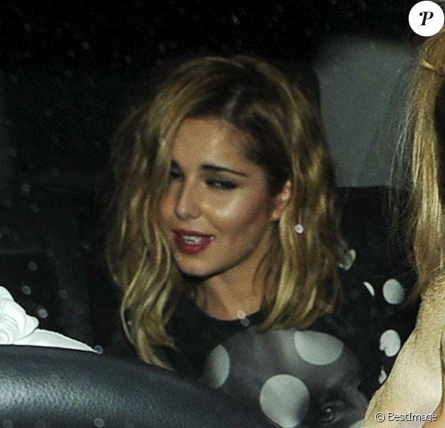 Cheryl Cole sort de soirée à Londres le 6 octobre 2011