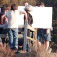 Katy Perry le 30 septembre 2011 sur le tournage du clip de the One that got away