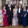 La famille royale de Norvège lors du 40e anniversaire de la princesse Märtha-Louise. La princesse Mette-Marit n'était pas présente.   Dans un contexte pourtant peu favorable, le couple royal (Harald et Sonja) et le couple princier (Haakon et Mette-Marit) du royaume de Norvège pourraient voir leur dotation augmenter.