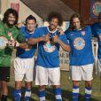 Ramzy, Franck Dubosc, JoeyStarr, Gad Elmaleh et Omar Sy dans Les Seigneurs.