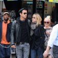 Jennifer Aniston et Justin Theroux le 16 septembre 2011 à New York