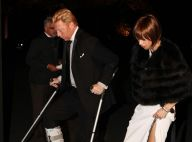 Boris Becker, en béquilles au bras de sa femme, se fait la vodka du diable