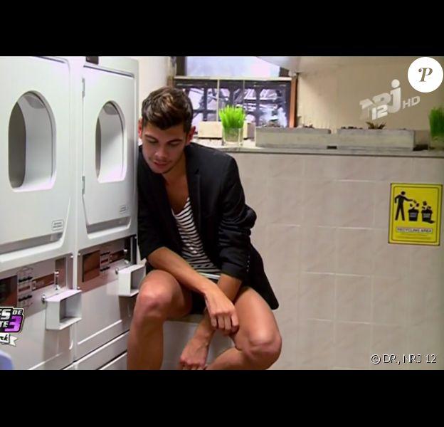 Guillaume pose dans les Anges de la télé-réalité 3, mardi 1 novembre 2011 sur NRJ 12