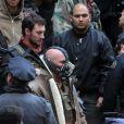 Tom Hardy sur le tournage de Dark Knight Rises le 6 novembre à New York.