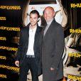 Frank et Hugo Leboeuf à la présentation de Rhum Express, de Bruce Robinson, le 8 novembre 2011.