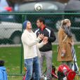 David Beckham et son fils Cruz le 12 novembre 2011 à Los Angeles