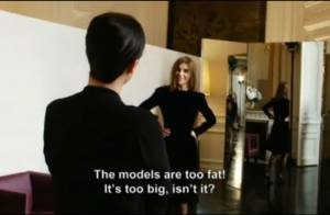 Carine Roitfeld, une cliente exigeante qui trouve les mannequins trop gros
