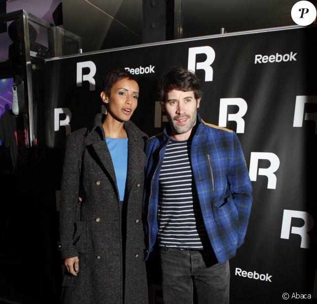 Sonia Rolland et Jalil Lespert lors de la soirée Reebok, à Paris. 17 novembre 2011