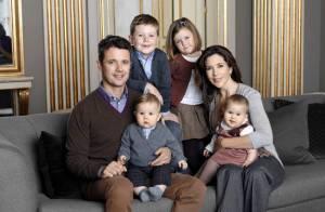 Mary et Frederik : Photo de famille avec les jumeaux, avant le grand départ