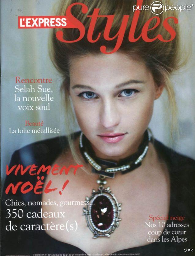 Selah Sue en couverture de  L'Express Styles , en kiosques le 23 novembre 2011.