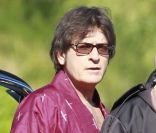 Charlie Sheen, le 14 novembre 2011 à Los Angeles, sur le tournage du film  A Glimpse Inside the Mind of Charlie Swann III .