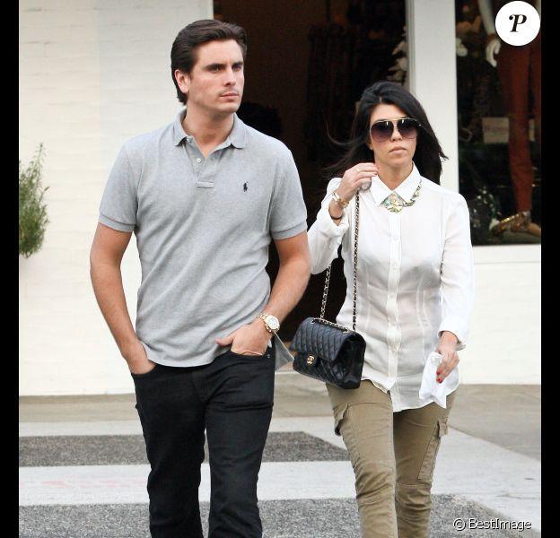 Kourtney Kardashian et Scott, en novembre 2011 à Los Ahgeles.