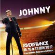 Affiche de Johnny Hallyday pour sa tournée 2012 et ses dates au Stade de France, les 15, 16 et 17 juin 2012.